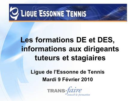 Ligue de l'Essonne de Tennis
