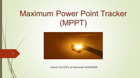 Maximum Power Point Tracker (MPPT)