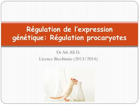 Régulation de l'expression génétique: Régulation procaryotes