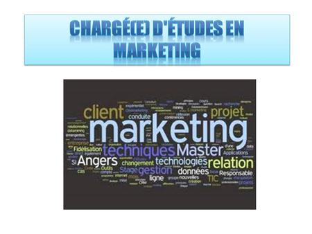 Chargé(e) d'études en marketing