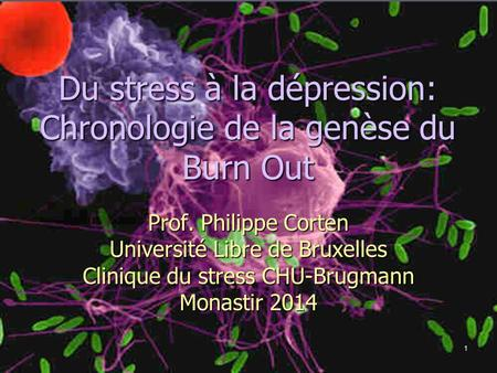 Du stress à la dépression: Chronologie de la genèse du Burn Out