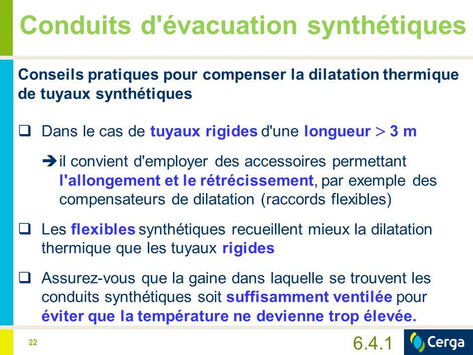 23 Conduits d évacuation synthétiques Effets négatifs des rayons UV  Le PP, le PPs et le PVDF sont sensibles aux rayons ultraviolets.