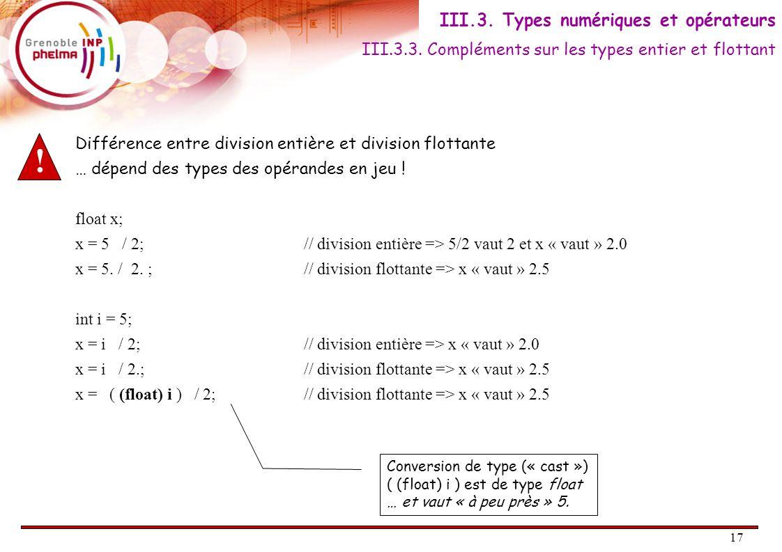 18 II.3.4.Opérations sur les caractères On appelle caractère tout caractère alphanumérique.
