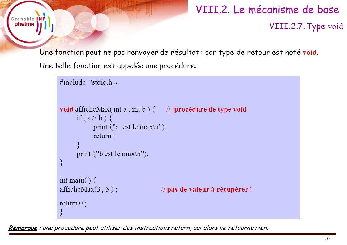 71 Écrire une fonction qui échange les valeurs de deux variables a et b de type int.