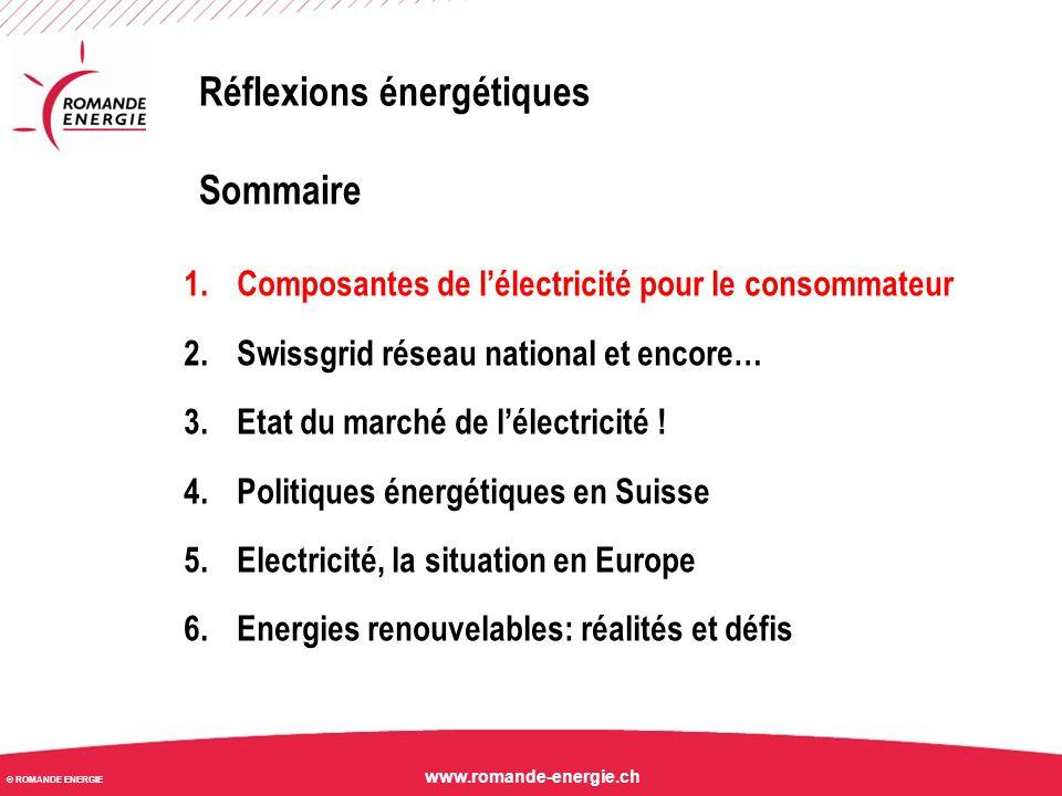 © ROMANDE ENERGIE www.romande-energie.ch Facture d'électricité A l'exception de la taxe de raccordement, tous les coûts sont proportionnels à la consommation électrique (aux nombres de KWh consommés).