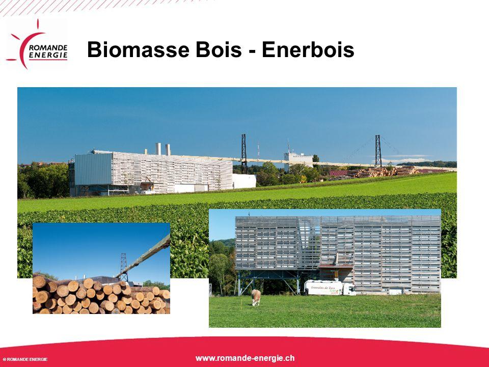 © ROMANDE ENERGIE www.romande-energie.ch Biomasse fermentable - AGROGAZ Lignerolle Digesteur et Post-digesteur Halle de stockage des substrats solides Stockage du digestat liquide Local technique