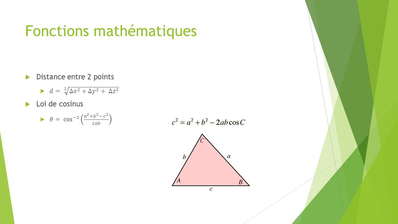 Exercices  À l'aide du projet « Skeleton Basics – WPF »  Ajouter une zone de texte où l'on pourra voir la position X, Y et Z des jointures de la main gauche, du coude gauche, de l'épaule gauche, de la tête et du centre des hanches  Utiliser le format (X, Y, Z) avec 2 décimales  Ajouter une zone de texte où l'on pourra voir l'angle formé par le coude  Ajouter une zone permettant d'indiquer si le bras gauche est étendu ou encore s'il est plié à 90° (±15%)