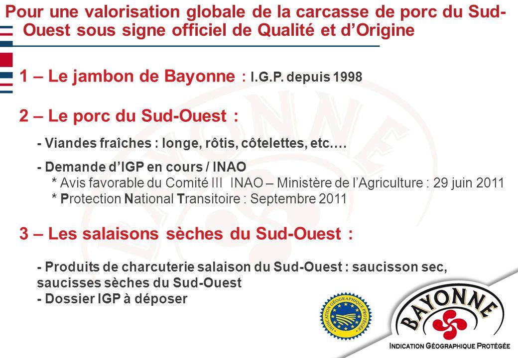 11/02/201012 Export, objectif 2015 : 20% de l'activité COMMUNICATION Participation à des salons sur l'Europe : - Allemagne : INTERMEAT – ANUGA - Belgique : TAVOLA - Royaume-Uni… Actions dans les pays tiers : - Japon (Foodex à Tokyo) : Mars 2009 - Corée (SEOUL FOOD) - Canada (Montréal et Québec) - Etats Unis Un préalable : Obtention des agréments sanitaires