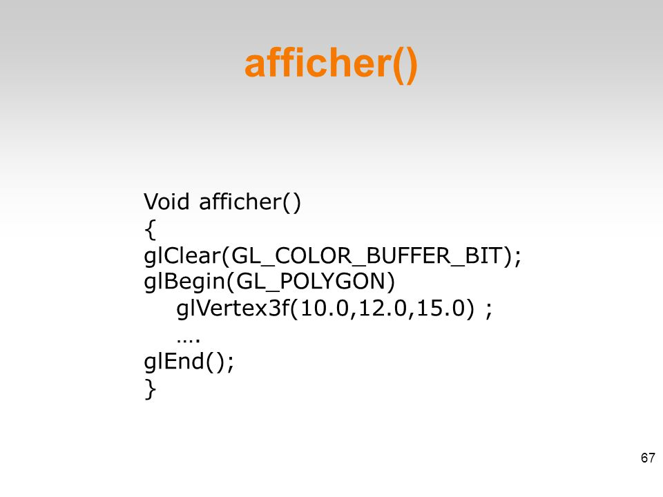 Void refenetrer() ‏ { } refenetrer() 68
