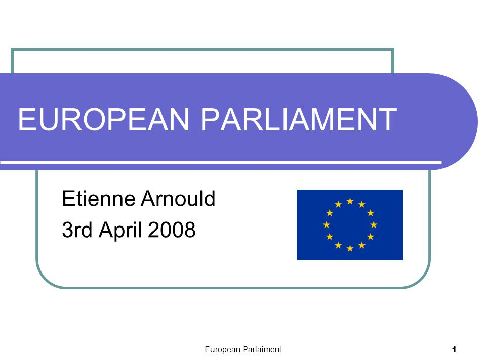 European Parlaiment2 History From the « Common Assembly » of ECSC ( European Coal and Steel Community) to the European Parliament Role of the European Parliament