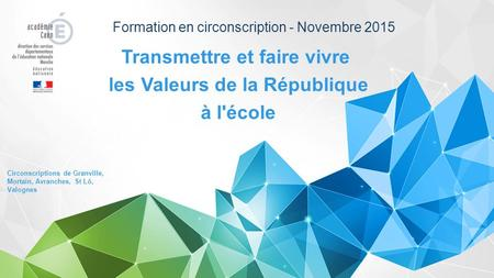 Formation en circonscription - Novembre 2015
