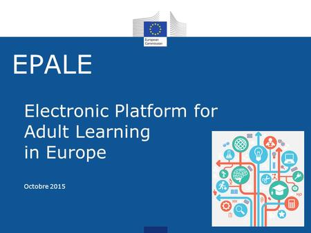 EPALE Electronic Platform for Adult Learning in Europe Octobre 2015.