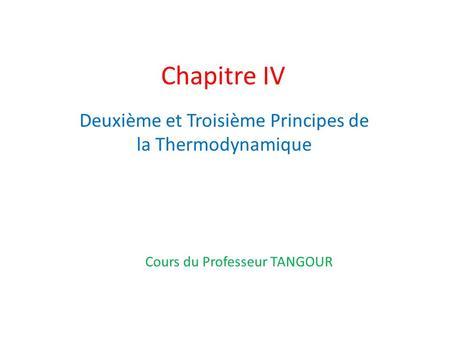 CHIMIQUE THERMODYNAMIQUE COURS PDF