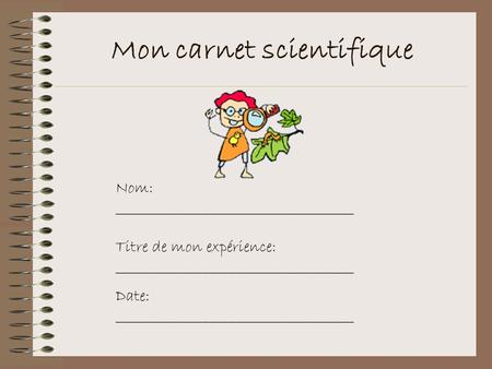Mon carnet scientifique