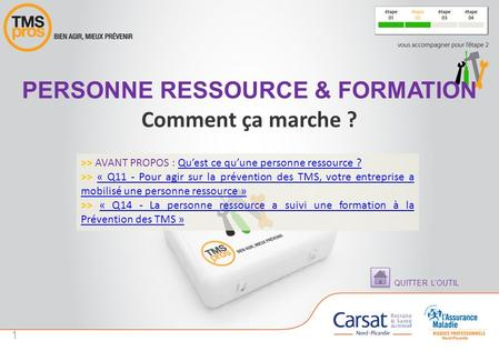 Personne ressource & formation