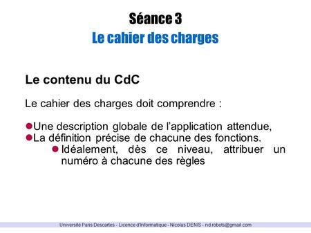 S ance 0 qu 39 est ce qu 39 un projet quel est l 39 l ment indispensabl - Cahier des charges definition ...
