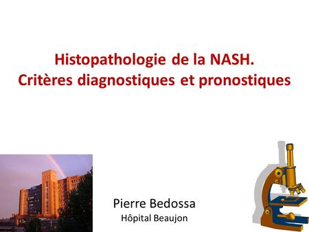 Histopathologie de la NASH