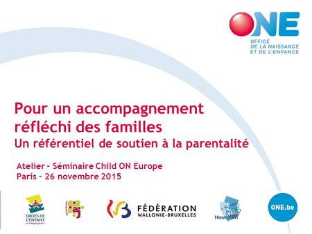 Atelier – Séminaire Child ON Europe Paris – 26 novembre 2015