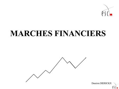 MARCHES FINANCIERS Damien DIERICKX.