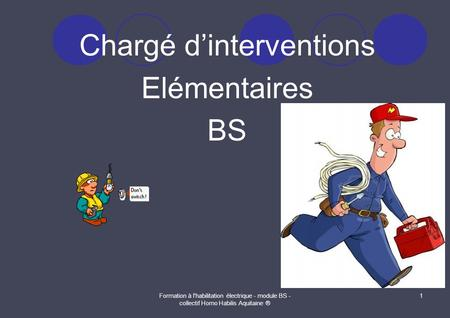 Chargé d'interventions