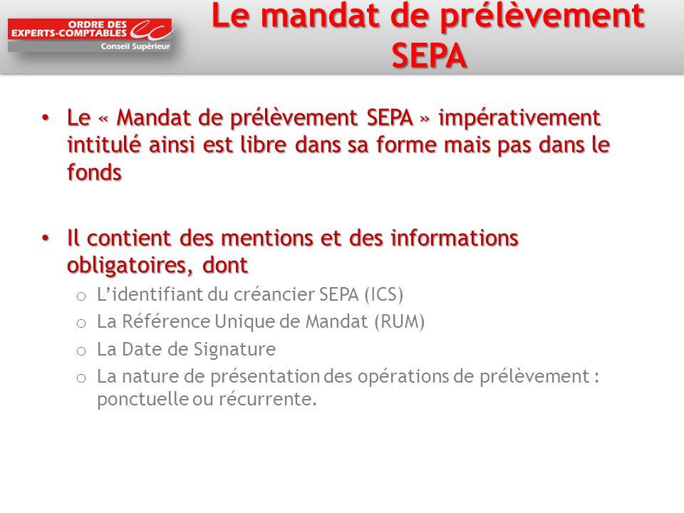 Le couple ICS-RUM ICS, l'Identifiant Créancier SEPA ICS, l'Identifiant Créancier SEPA o Le créancier en fait la demande à sa banque, qui la transmet à la Banque de France, attention au délai de quelques jours à 2 mois RUM, la référence unique de mandat RUM, la référence unique de mandat o La RUM est unique pour chaque mandat o Elle est attribuée librement par le créancier ( 35 caractères max) afin d'identifier un mandat signé par un débiteur donné.