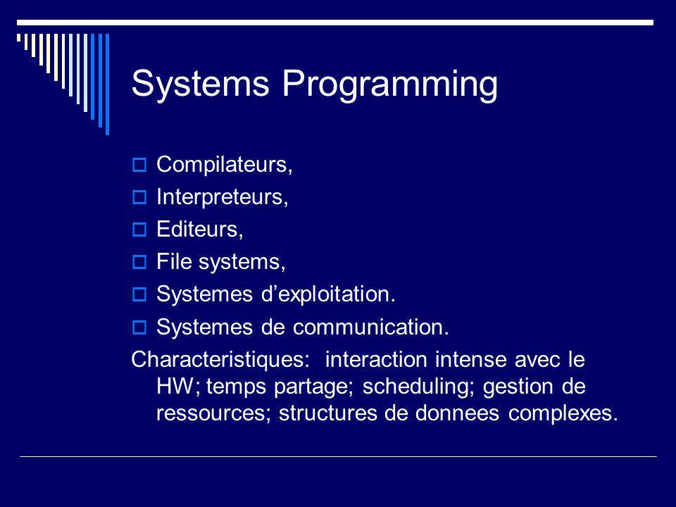 Systemes Temps Reel  Surveillance/ controle de processus temps reel.