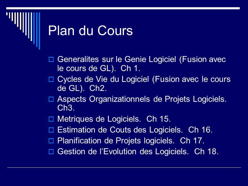Generalites sur le Genie Logiciel  Logiciel/ Informatique: Place importante et croissante dans la vie economique et sociale globale.