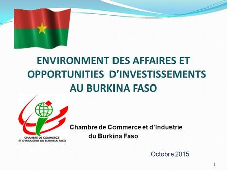 Le commerce international de marchandises au benin ppt for Chambre de commerce du burkina