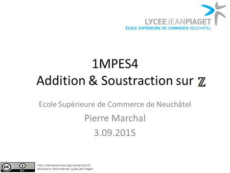 1MPES4 Addition & Soustraction sur