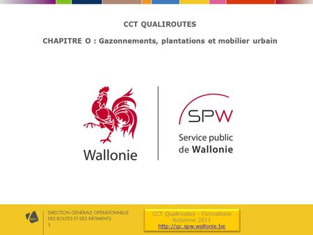 1 CCT Qualiroutes – Formations Automne 2011  CCT Qualiroutes – Formations Automne 2011  CCT QUALIROUTES.