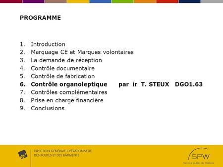 PROGRAMME Introduction Marquage CE et Marques volontaires
