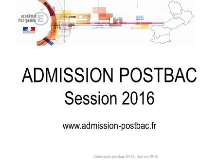 ADMISSION POSTBAC Session 2016