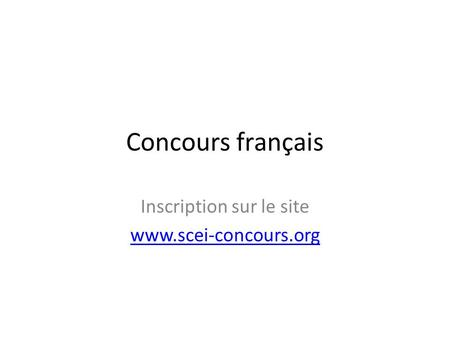 Inscription sur le site