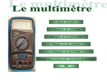 Comment utiliser un multim tre ppt video online - Comment utiliser un voltmetre ...