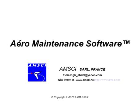 Aéro Maintenance Software™