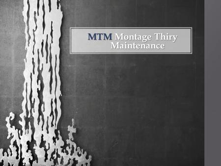 MTMMontage Thiry Maintenance MTM Montage Thiry Maintenance.