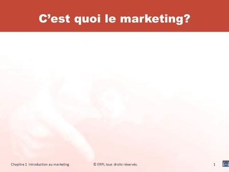 C'est quoi le marketing?