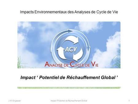 Impact ' Potentiel de Réchauffement Global '