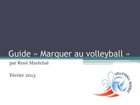 Guide « Marquer au volleyball »