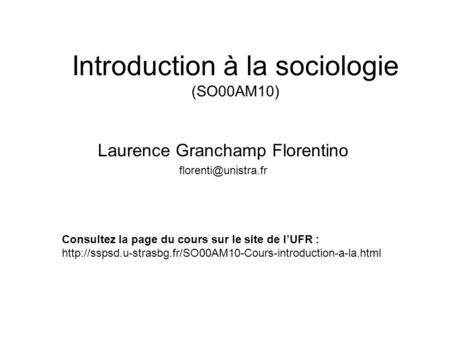 Introduction à la sociologie (SO00AM10)