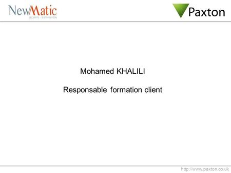 Mohamed KHALILI Responsable formation client.
