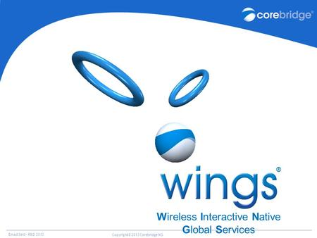 Emad Said – R&D 2013 Copyright© 2013 Corebridge NG Wireless Interactive Native Global Services ®