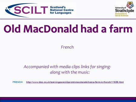 Old MacDonald had a farm