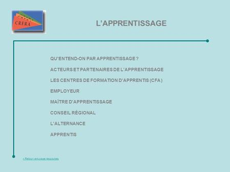 L'APPRENTISSAGE QU'ENTEND-ON PAR APPRENTISSAGE ?