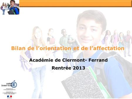 Bilan de l'orientation et de l'affectation