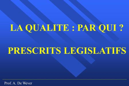 PRESCRITS LEGISLATIFS