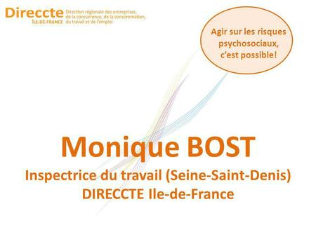 Monique BOST Inspectrice du travail (Seine-Saint-Denis)