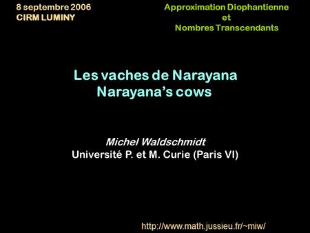 Approximation Diophantienne Nombres Transcendants
