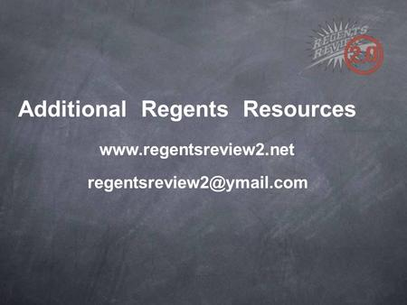 Additional Regents Resources