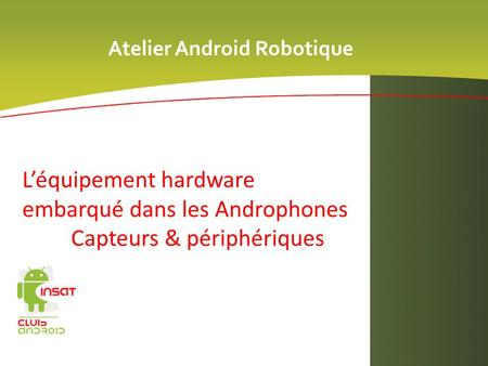 Atelier Android Robotique